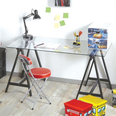 bureau plateau en verre plateau bureau en verre maison design modanes com