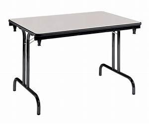 Table Pliante Noire : table pliante dune gris pi tement noir 120 x 80 cm ~ Teatrodelosmanantiales.com Idées de Décoration