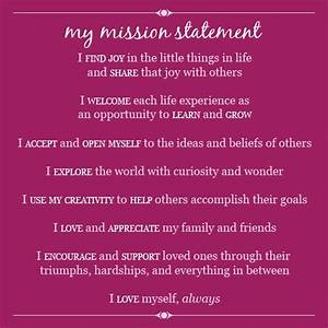 Personal Commitment Statement Examples My Mission Statement Personal Mission Statement Quotes