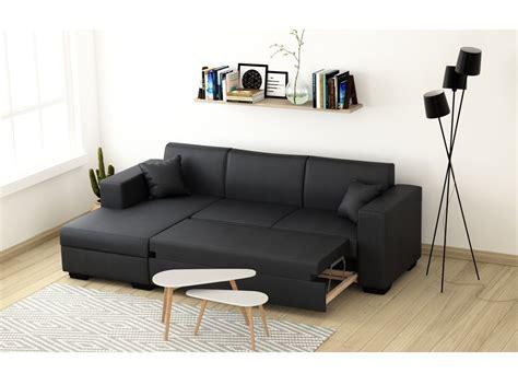 canapé gris simili cuir canapé d 39 angle 4 places simili cuir tendance