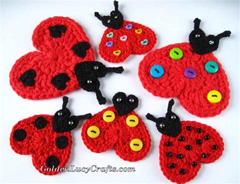 patterns for applique crochet ladybug applique free crochet pattern
