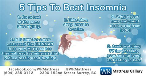 Insomnia  5 Tips To Beat Insomnia  Wr Mattress