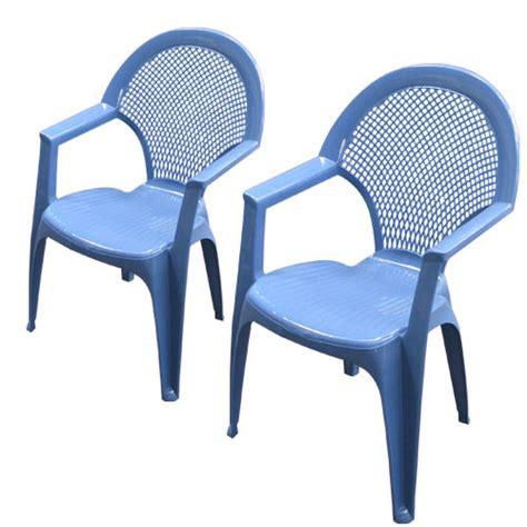 chaise de jardin bleu 2 fauteuils empilable canasta bleu lavande oogarden