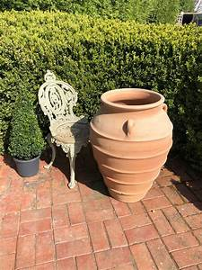 Large, Mediterranean, Style, Clay, Pots
