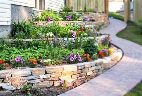 ideas  decorar grandes jardines flores castillon