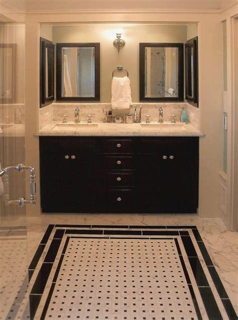 small black  white bathroom floor tiles ideas