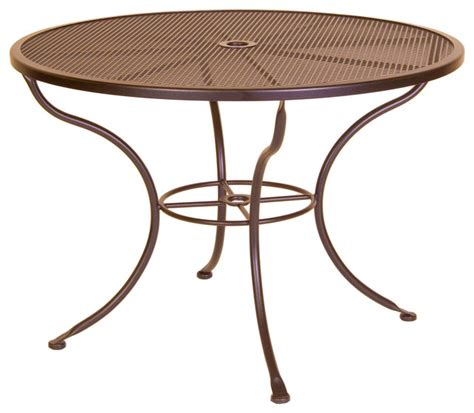 Micro Mesh 42 Quot Round Dining Table With 2 Quot Umbrella Hole