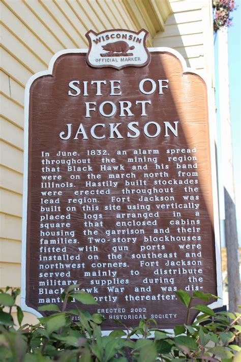 jackson fort marker wisconsin markers land historical mineral point hawk war history located site role lakes