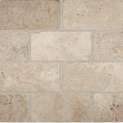 tuscany classic 3 quot x 6 quot travertine subway tile in tumbled