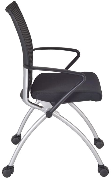 apprentice 36 h mesh back nesting chair with casters