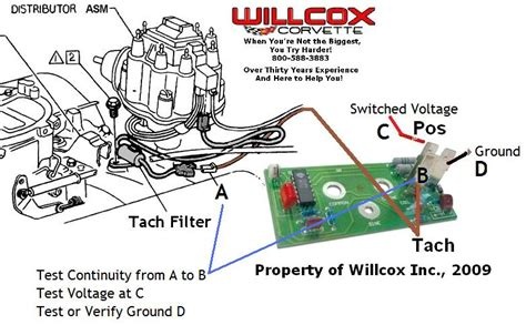 75 Corvette Wiring Diagram by 1975 1977 Corvette Tach Wires From Dist To Board 75