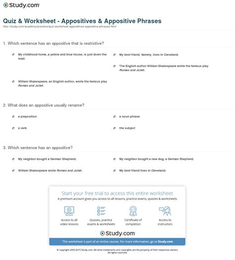 important appositive worksheet with answer key goodsnyc