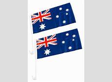 40cm Pair of Australian Flags for Car, Aussie Day
