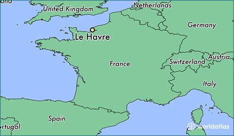where is le havre le havre normandy map