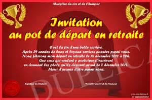 carte d invitation 224 imprimer amusante pour un d 233 part en retraite ou
