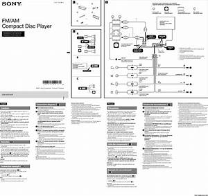 Sony Cdx Gt575up Installation Connections Manual