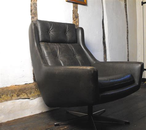 antiques atlas vintage leather swivel chair