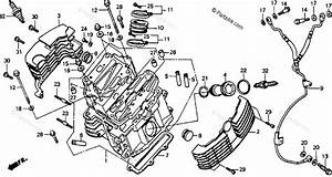 Honda Motorcycle 1994 Oem Parts Diagram For Front Cylinder