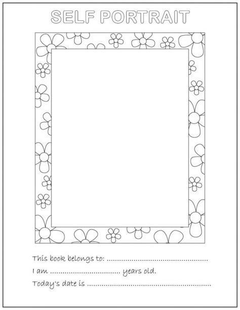 This Is Me Art Template by All About Me Coloring Pages