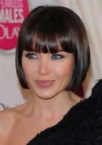 Short Bob Hairstyles with Blunt Bangs