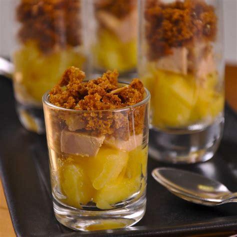 recette de cuisine orientale verrines de pommes et foie gras en crumble de d 39 épices une recette fête cuisine le