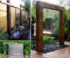 Wonderful DIY Patio Water Wall