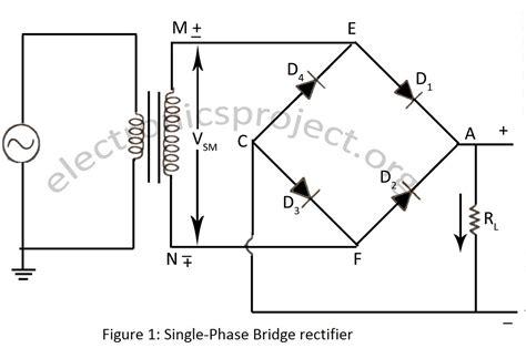 draw  circuit diagram  full wave bridge rectifier