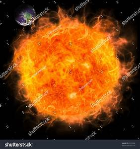 Real Earth Planet Space Big Red Stock Illustration ...