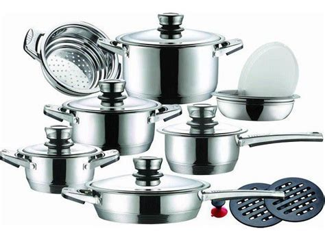 Leopard German Designed 16 piece Stainless Steel Cookware