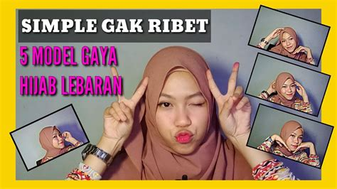 Tutorial Hijab Lebaran 2020 YouTube