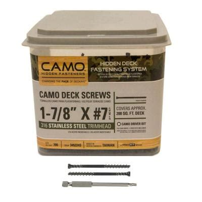 Camo Deck Fasteners Home Depot by Camo 1 7 8 In 316 Stainless Steel Trimhead Deck