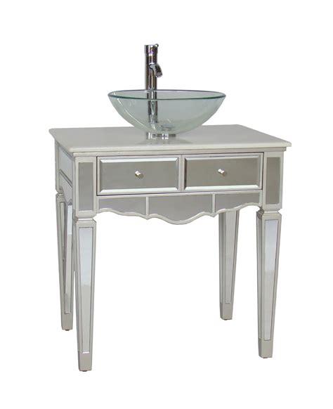 bathroom vanity with vessel sink adelina 30 inch mirrored vessel sink bathroom vanity