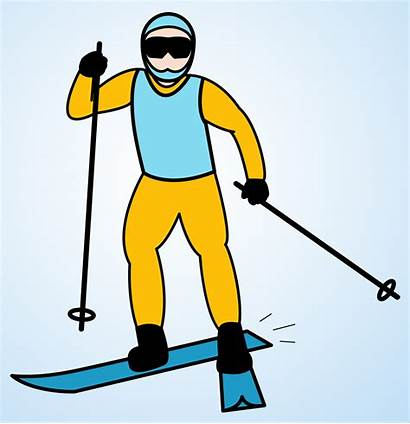 Skiing Clipart Skier Clip Cartoon Cross Country