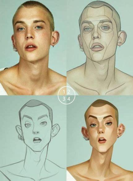 drawing cartoon faces digital paintings  ideas drawing