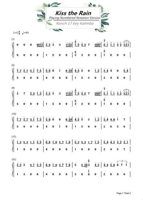 › 17 note kalimba pdf. Ranch Beginners 17 key Kalimba Lesson 4 - Kiss the Rain | เพลง, ดนตรี