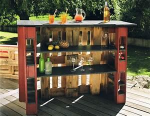 Bar Exterieur Bois : mini bar en bois de palettes voici 20 id es cr atives ~ Teatrodelosmanantiales.com Idées de Décoration