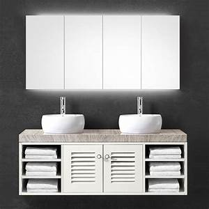 achat meuble salle de bain bois double vasque blanc 160 cm With meuble salle de bain bois 160 cm