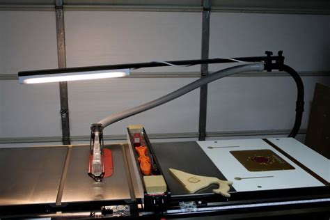 Sawstop Overarm Dust Collection (with Light!)  Halfinch Shy