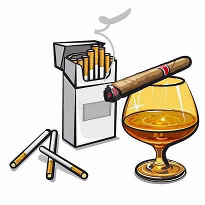 Alcohol Cigarettes Vector Cigar Illustration Scotch Vectorstock