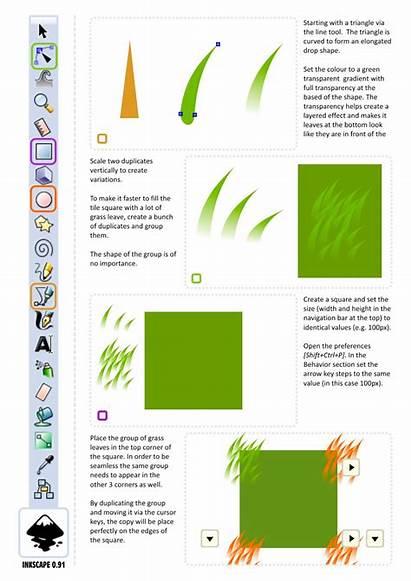 2d Tiles Inkscape Grass Tutorial Background Seamless