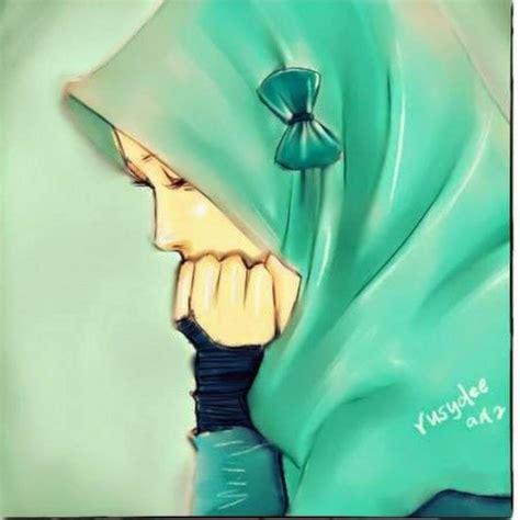 foto kartun muslimah galau top gambar