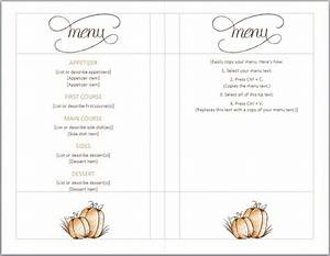 thanksgiving menu template word images With menu with pictures template