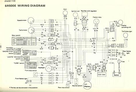 yamaha sr500e wiring diagram