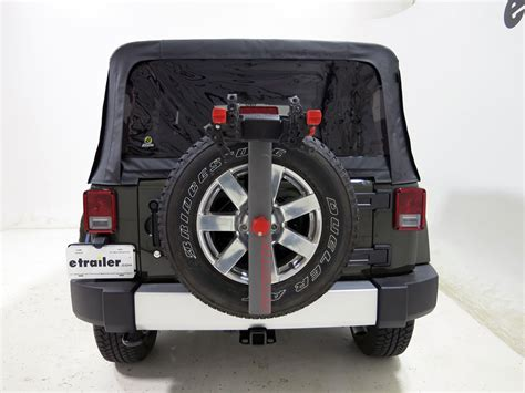 jeep wrangler bike rack jeep wrangler unlimited yakima sparetime 2 bike carrier