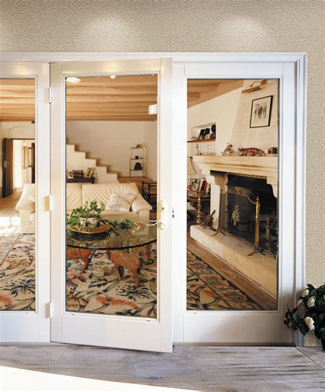milgard out swing doors traditional patio