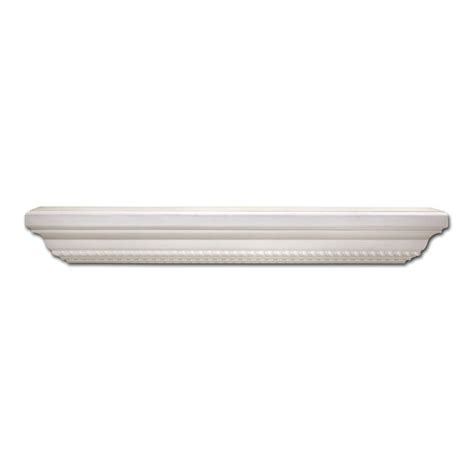 Home Depot Decorative Rope Shelf by Rubbermaid 8 In X 48 In White Laminate Decorative Shelf