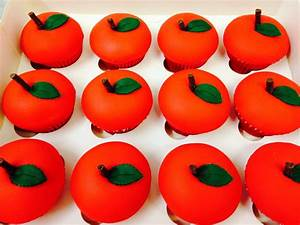 Red Apple Shaped Cupcake Crumbs Cake Shop Sheffield