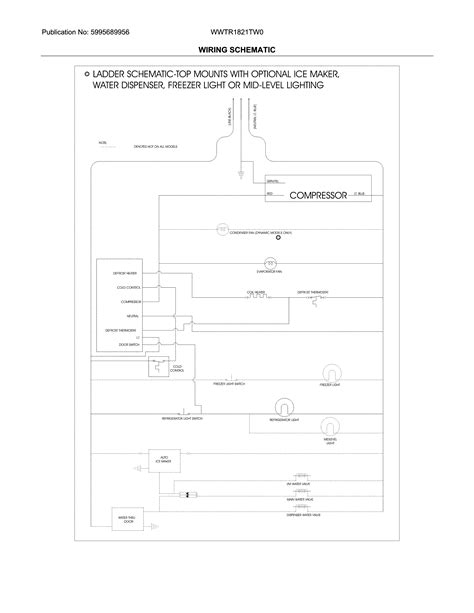 refrigerator wiring diagram u0026 white westinghouse