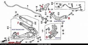 2000 Honda Civic Rear Suspension Diagram