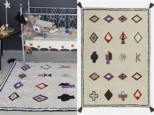un tapis berbere colore chez les minis joli place With tapis berbere coloré